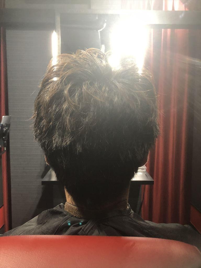 ヘアセット後の後ろ髪